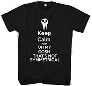 Assinom Funny Mens Black Tee Soul Eater Anime Design Adult Cotton T-Shirt