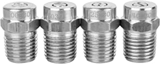 Sooprinse Universal Pressure Washer Surface Cleaner Nozzle, Universal Replacement Thread Type Spray Nozzle to Water Broom and Undercarriage Cleaner,4000PSI, 1/4''Male NPT,4 Packs,0,15,25,40 Degrees