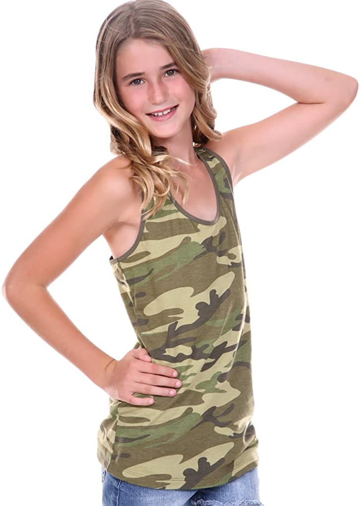 Kavio! Big Girls 7-16 Camouflage Racer Back Tank
