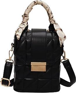 Wshizhdfuwstb Tote Bag for Women, Miniskirt Ribbon Design PU Leather Box Ladies Shoulder Bag Curt Handbag Travel All- matc...