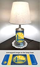 Warriors Table Lamp with Shade, Your Favorite Team Plate Rolled in on The lamp Base, Golden State W