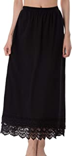 GRACE KARIN Ankle Length Underskirt Double Lace Skirt Extender Half Slip