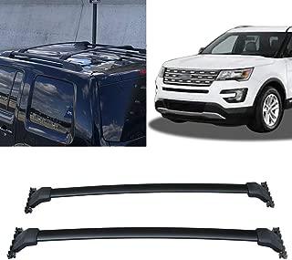 Cross Bars Roof Rack Crossbars Smooth Roof Rack Fits 2016-2019 Ford Explorer Aluminum