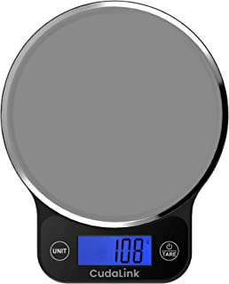 Smart Digital Kitchen Food Scale With Liquid & Volume Measurements | High Precision Strain Gauge Sensors 6kgs/1760z/13lb/6000ml Capacity |Electronic Cooking & Baking Scale with LCD display by CudaLink