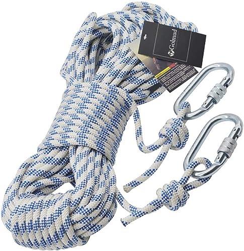 YXWssa Cordes Corde d'escalade en Nylon de 8 mm de diamètre, Corde d'altitude de 1200 kg, Corde optionnelle Multi-Tailles équipement d'escalade (Taille   20 Meters)