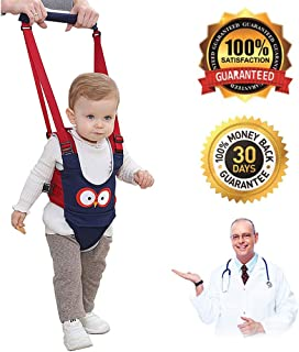 Baby Walker, Adjustable Baby Walking Safety Harnesses,Breathable Stand Up and Walking Learning Helper for Infant Child Activity Walker, Pulling and Lifting Dual Use 7-24 Month (Dark Blue)