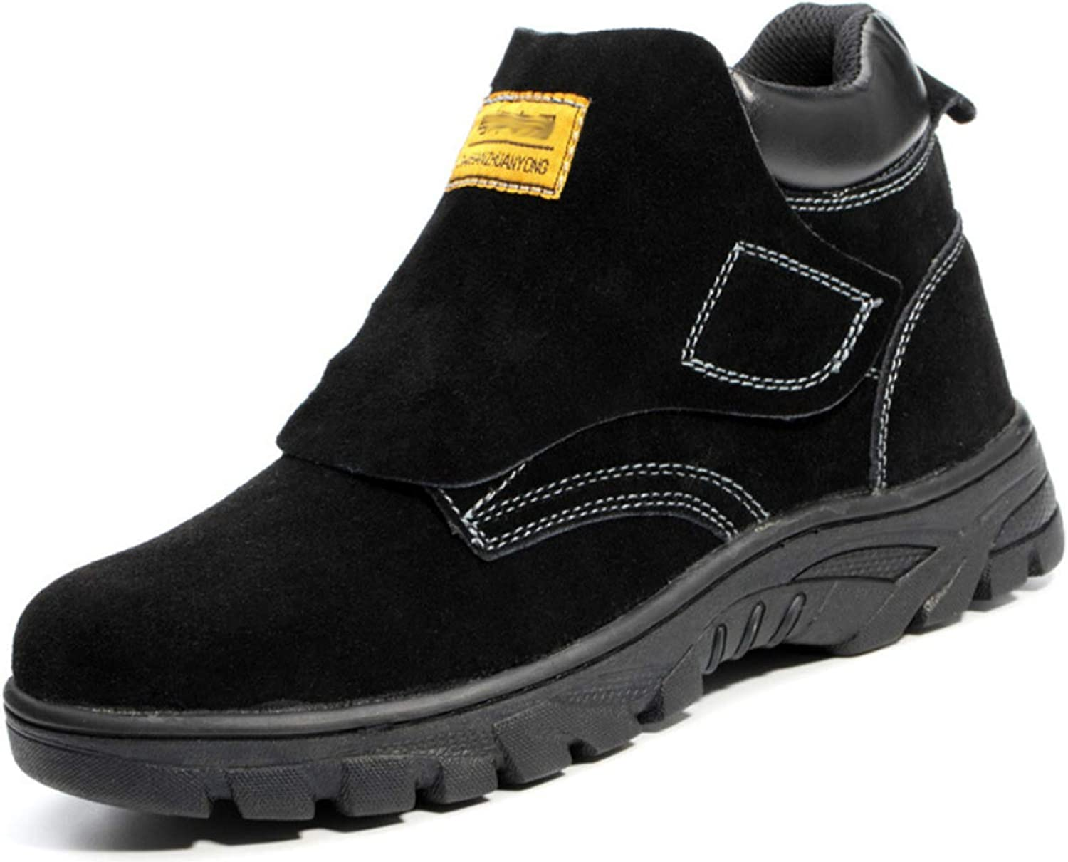Men's Steel Work Boots Industrial And Construction shoes Anti-puncture Safety shoes Warm Lining