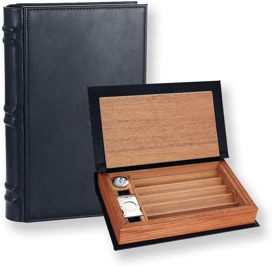 Cigar Humidor Made of Fashion Luxury Leather and for Cedar P Box Travel