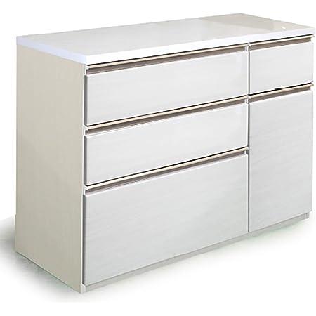 キッチン収納 キッチンカウンター カウンター 130カウンター マーダー k121 (ホワイト) レンジボード 食器棚 引き出し 完成品 開梱設置