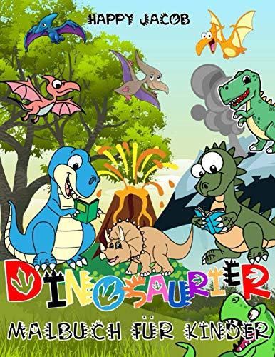 Dinosaurier Malbuch für Kinder: Dino Ausmalbuch für Jungen und Mädchen von 4 bis 8 Jahren | Geschenk für Kinder ab 4 Jahren
