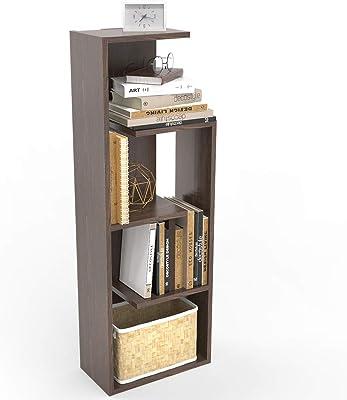 Decostyle Book Shelf/Home Decor Display & Storage Rack Unit – 4 Shelves Rectangle Shape (Wenge)