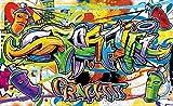 Olimpia Design 1400P4 Lot de 2 rouleaux de papier peint photo Motif graffitis