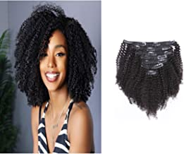 Loxxy Afro Kinky Curly Clip In Hair Extensions Natural Black Hair Clip Ins Virgin 3C 4A..