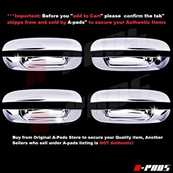 Amazon Com A Pads 4 Chrome Door Handle Covers For Cadillac Sts 2005 2007 Srx 2004 2009 Cts 2008 2013 Without Passenger Keyhole Automotive
