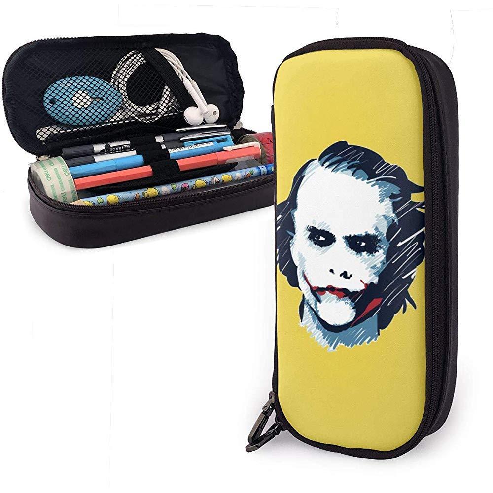 Joker Heath Ledger Estuche para lápices de cuero para niños personalizado: Amazon.es: Oficina y papelería