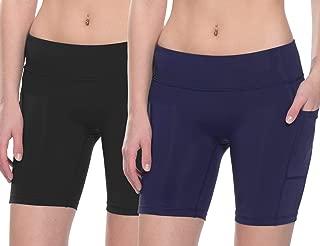 "Baleaf Women's 4"" / 7"" Compression Running Shorts Volleyball Workout Shorts Pocket"