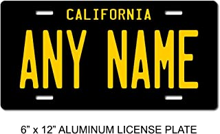 TEAMLOGO Personalized California License Plate - Sizes for Kid's Bikes, Cars, Trucks, Cart, Key Rings Version 4