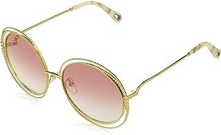 Chloé CE114SC 724 Gold/Peach Carlina Chain Round Sunglasses Lens Category 2 S
