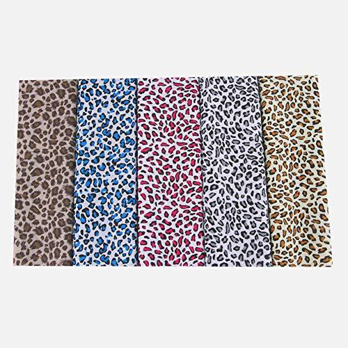 Goodtimera 5 Stück Baumwollstoff Stoffpaket Mit Baumwoll-Leopardenmuster Zum Basteln, DIY-Bastelsets Für Nähmaterialien Nähen Stoff Patchwork Kunsthandwerk
