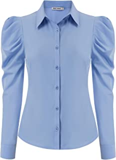 GRACE KARIN Office Lady Collared Chiffon Blouse Long Sleeve CLAF0212