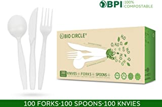Biodegradable Box Of 300 Nature Friendly Compostable Combo Cutlery