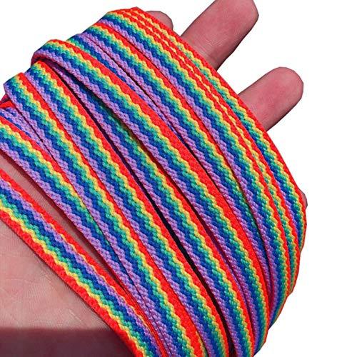 YILONG 1 Paar Farbspitze Rainbow Gradienten Print Flache Leinwand Schuhe Schuhe Casual Color Lace 80cm / 100 cm / 120 / 160cm