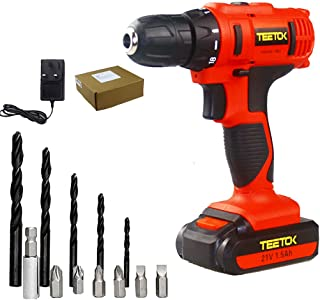 21V 18+1 Cordless Combi Drill Electric Driver Screwdriver Max Torque 45Nm with 1x 1500mAh Li-ion Batteries and Fast Charge...
