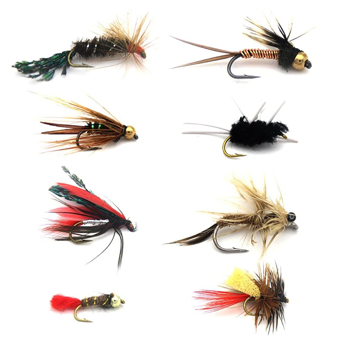 Fly Fishing Flies Assortment SaltwaterTrout Nymph Dry Wet Flies Egg Patterns For Flyfishing Bass Carp Panfish Redfish