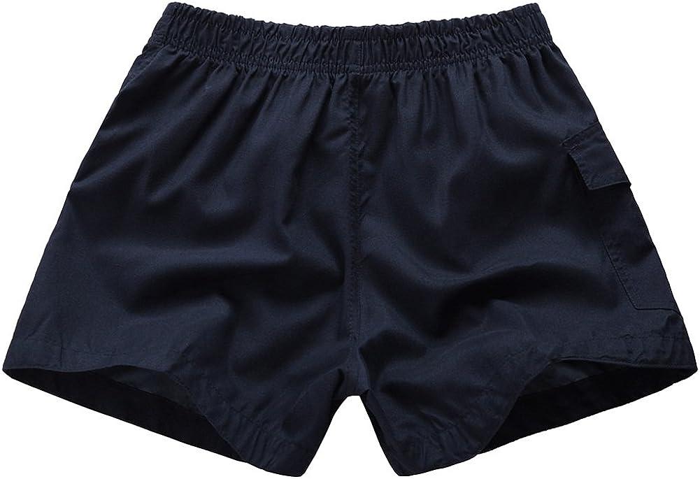 SNOW DREAMS Boys Board Shorts with Mesh Lining Elastic Waist Summer Swimwear with Pockets