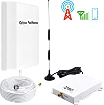 AT&T Cell Phone Signal Booster 4G LTE 700Mhz Band12/17 T-Mobile Cell Signal Booster ATT Signal Booster AT&T Cell Phone Signal Amplifier Repeater SHW-CELL with Suction Cup+ Panel Antennas Kit Home Use