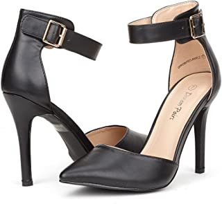 bce421de13a2 DREAM PAIRS Oppointed-Ankle Women s Pointed Toe Ankle Strap D Orsay High  Heel Stiletto