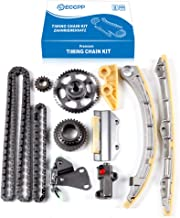 ECCPP TK4033 Timing Chain Kit Tensioner Guide Rail Cam Sprocket Crank Sprocket Oil Pump Chain fits for 02-06 Acura RSX Honda Civic Si 2.0 K20A3