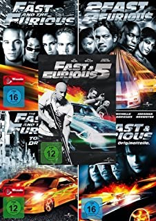 The Fast and the Furious 1 + 2 + 3 + 4 + 5 Collection (5-DVD)