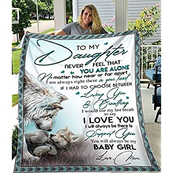 Wolf Mom To MY Daughter You/'ll Always Be My Baby Girl Sherpa Blanket