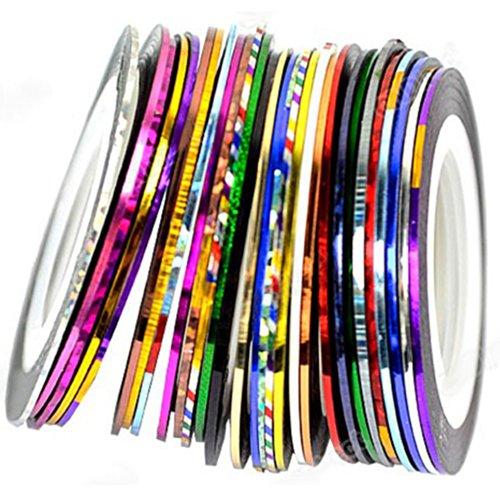 Bandes de 10 rouleaux pour le nail art Nail Art Striping Tape Bandes Line Décoration Ensemble de kit