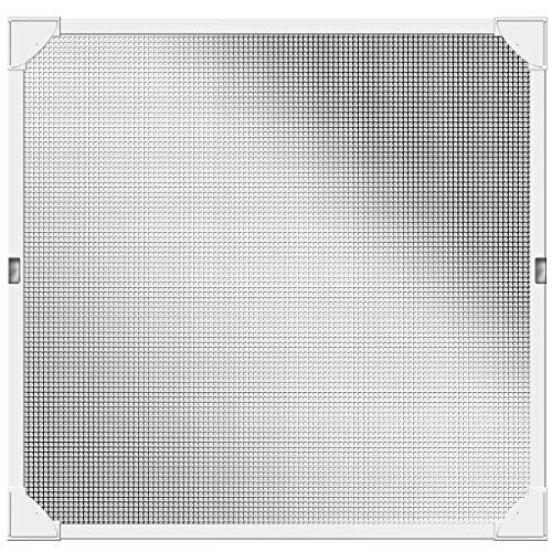 Schellenberg 50742Protección contra insectos de ventana, Reflection Mosquitera con marco magnético sin agujeros–100x 120cm en color blanco
