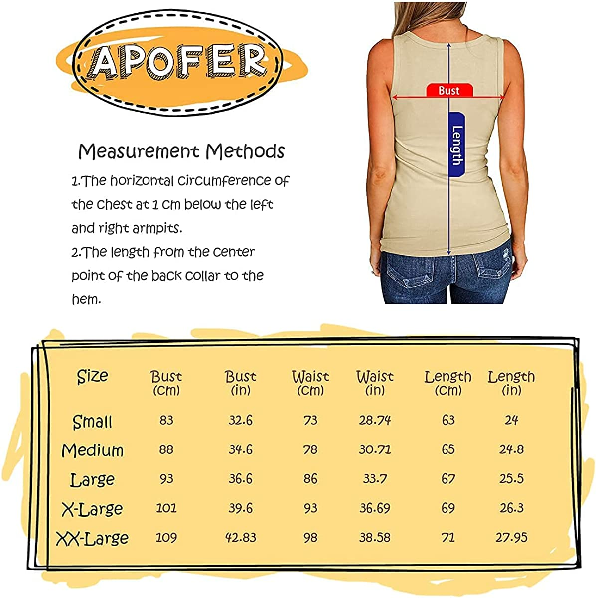 APOFER Women's Scoop Neck Tank Tops Sleeveless Henley Cami Shirts Button Up Ribbed Tunic Tees