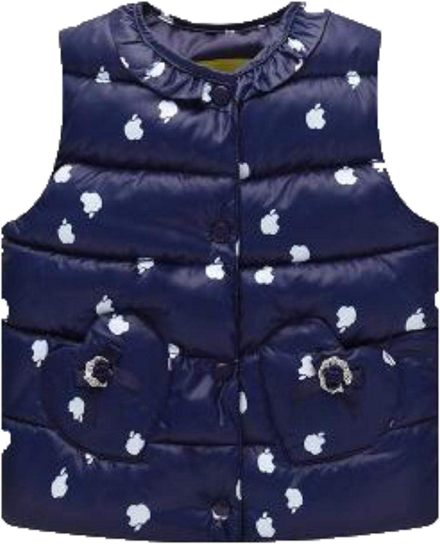 Kids Down Coat Girl Vest Cotton Warm Vest Children ,ink,5