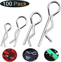 Hobbypark 1/18th-1/5th Small-Large RC Body Clips Bent Springy R Pins Hobby Car Truck Buggy Crawler Body Shell Vehicle Spare Parts (100-Pack)