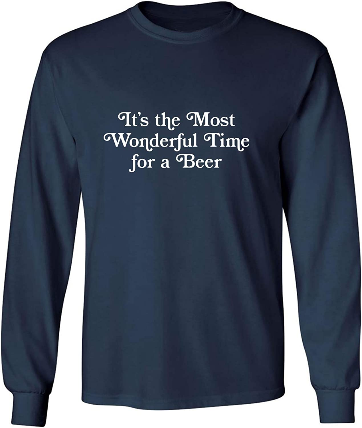 It's The Most Wonderful Time Adult Long Sleeve T-Shirt in Navy - XXXXX-Large