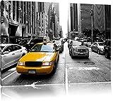 Gelbes Taxi in New York schwarz/weiß Format: 120x80 auf