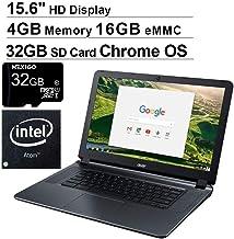 Newest Acer Chromebook 15 15.6 Inch Non-Touch Laptop for Business Student| Intel Atom x5 E8000| 4GB RAM| 16GB eMMC| WiFi| Bluetooth| HDMI| Chrome OS + NexiGo 32GB MicroSD Bundle
