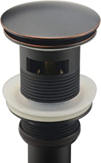 Purelux Bathroom Faucet Vessel or Vanity Sink Spring Pop Up Drain Stopper With Overflow, Oil Rubbed Bronze