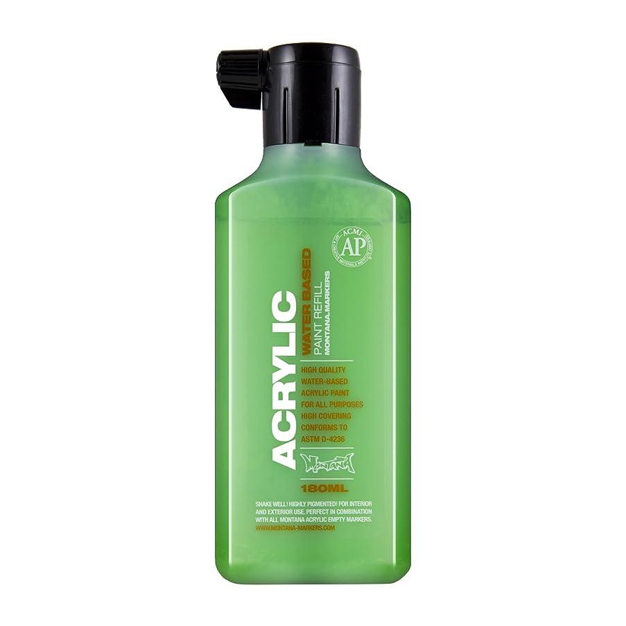 Montana Acrylic Marker Ink Refills, 180ml Bottle, Shock Green (045462)