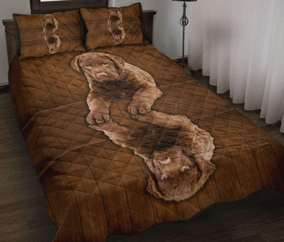 Personalized Chesapeake Price reduction Houston Mall Bay Retriever Quilt Dog Sets Soft