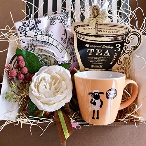 フラワーローズギフト(ショーンマグ&チョコレート&紅茶)/セット、詰め合わせ (オレンジマグ)/ピンクエンジェルラッピング