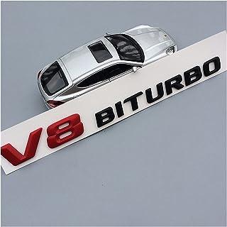 TRUSTTWO V8 V12 BITRUBO Brieven Embleem Badge Fit for Mercedes Benz C63 E300L Fender Side Supercharge Turbo Logo Auto Styl...
