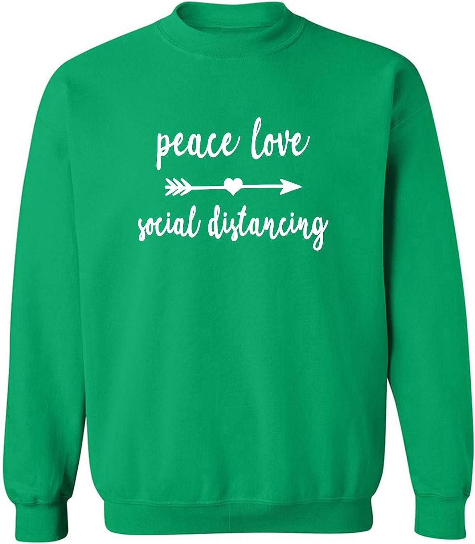 Peace, Love, Social Distancing Crewneck Sweatshirt