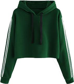 Fabricorn 2 Stripes on Sleeve Sweatshirt Hoodie for Women