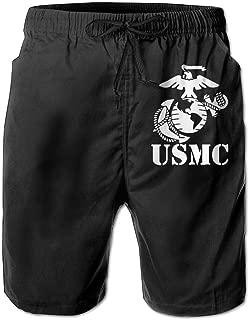 Eagle Globe Anchor USMC Marine Corps Man's Summer Boardshorts Casual Shorts